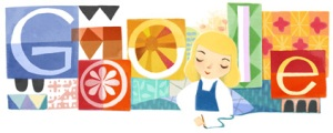 Google Doodle honoring Mary Blair