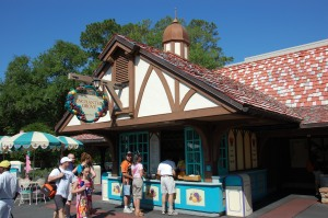Photo of the Enchanted Grove snack shop in the Magic Kingdom theme park at Disney World in Orlando, Florida.