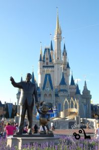 Partners Statue featuring Mickey Mouse and Walt Disney in the Magic Kingdom at Walt Disney World Resort.